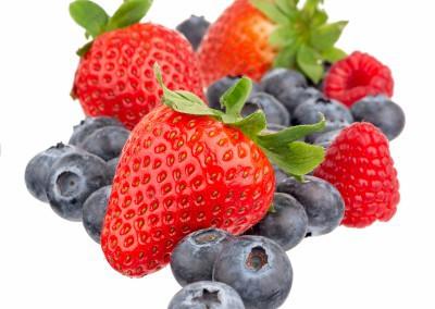 Matfoto Jordbær og blåbær