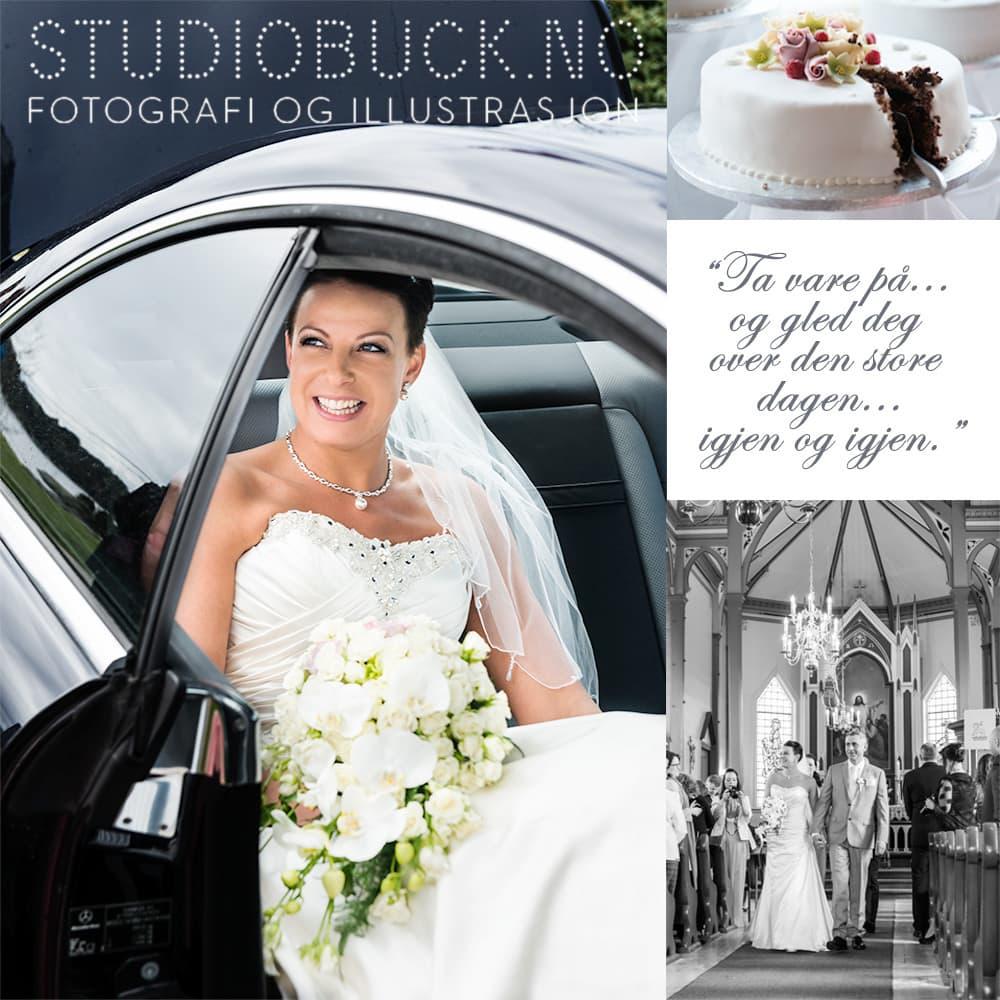 Bryllupsfotograf sikrer deg minner for livet!