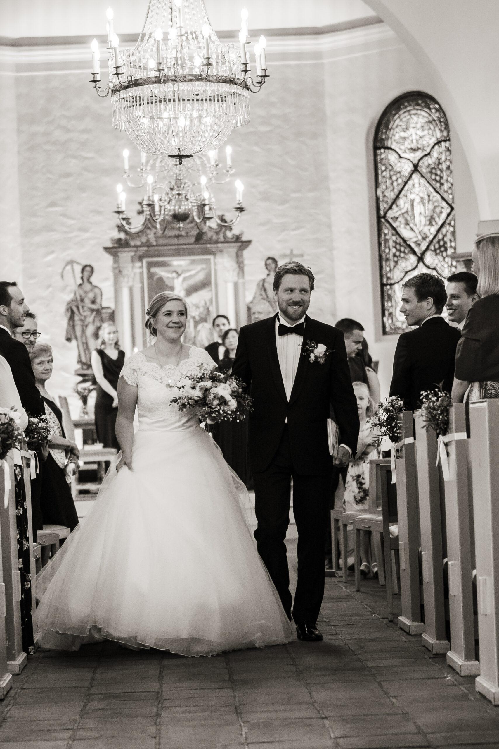 Bryllup i Nøtterø kirke gift