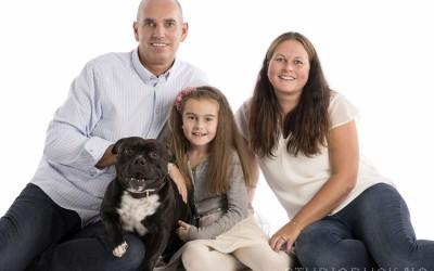 Familiefotografering i studio